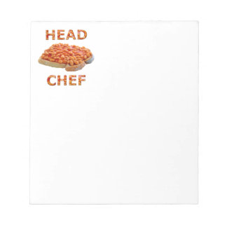 Head Chef Beans on Toast Note Pad