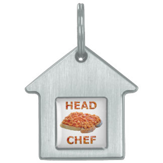 Head Chef Beans on Toast Pet Name Tag