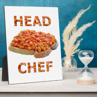 Head Chef Beans on Toast Plaque