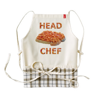 Head Chef Beans on Toast Zazzle HEART Apron