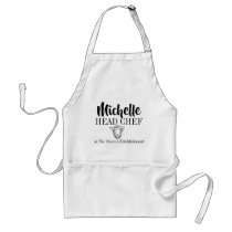Head chef designed for your home sheep adult apron