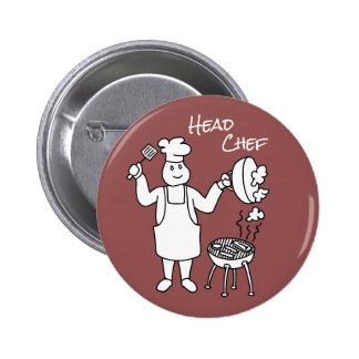 Head Chef Pinback Button