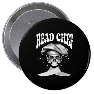 Head Chef Skull V2 Pins
