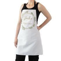 head chef terrarium foliage leaf gem geometric apron