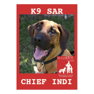 head-chief, KlassKids Search Team LEFT CHEST 20... Large Business Cards (Pack Of 100)