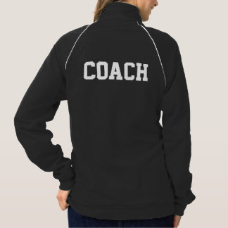 Head Coach With Name American Apparel Fleece Track Jacket