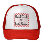 Head Cook and Bottle Washer Kitchen Saying Mesh Hat