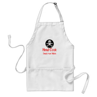 Head Cook Death from Within Adult Apron