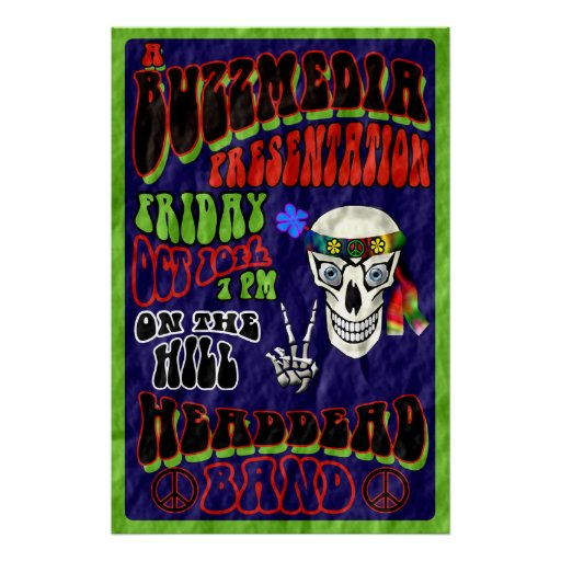 Head Dead Band Concert Poster