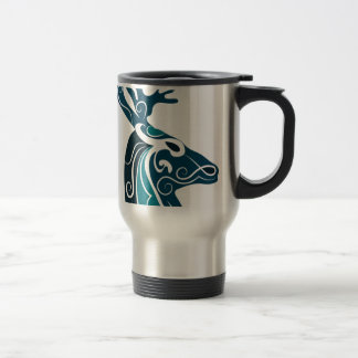Head deer travel mug