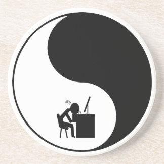 Head Desk Icon Drink Coaster