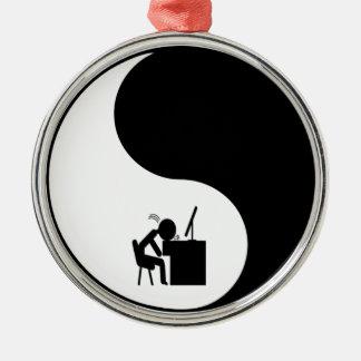 Head Desk Icon Ornament