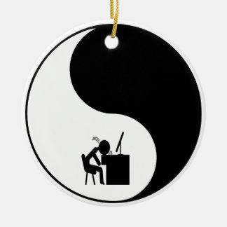 Head Desk Icon Christmas Tree Ornament