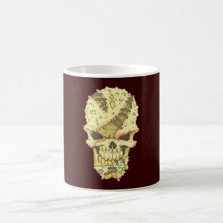 head disintegrating skull rot skull coffee mug