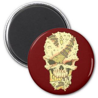 head disintegrating skull rot skull magnet