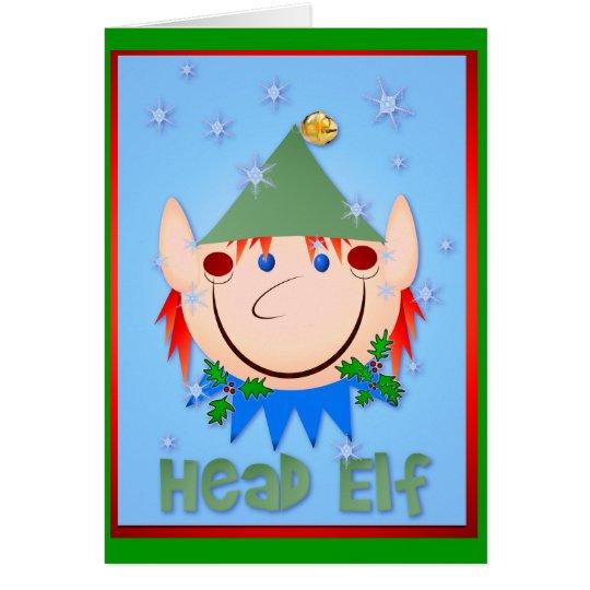 Head Elf Card