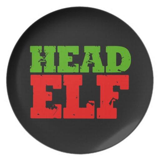 HEAD ELF DINNER PLATES