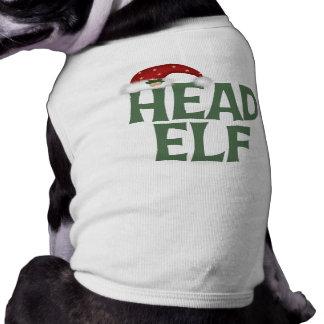 Head Elf Dog Shirt