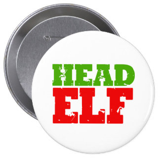 HEAD ELF -.png Pinback Buttons