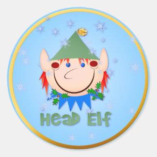 Head Elf Stickers