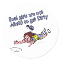 Head First Slide Classic Round Sticker