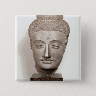 Head from a statue of the Buddha, from Button