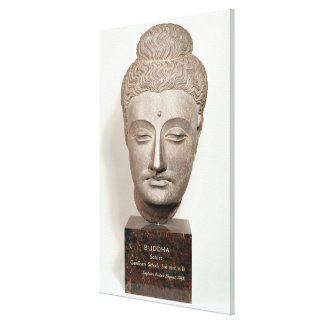 Head from a statue of the Buddha, from Canvas Print