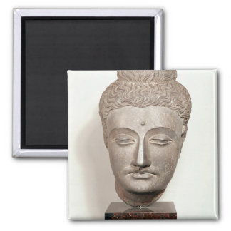 Head from a statue of the Buddha, from Magnet