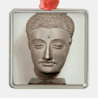 Head from a statue of the Buddha, from Metal Ornament
