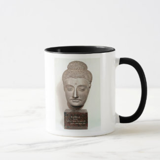 Head from a statue of the Buddha, from Mug