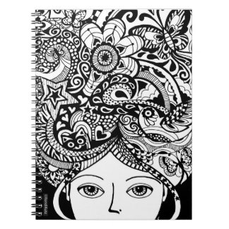 Head Games Color Your Own Zendoodle Notebook