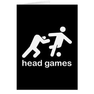 head games foreigner headgames funny tshirt greeting card
