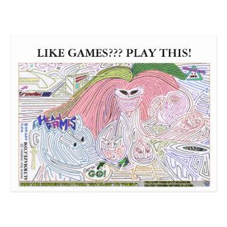 Head Games Ultra Maze '10 Postcard