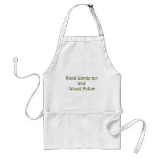 Head Gardener and Weed Puller Adult Apron