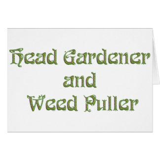 Head Gardener and Weed Puller Card