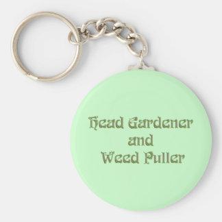 Head Gardener and Weed Puller Keychain