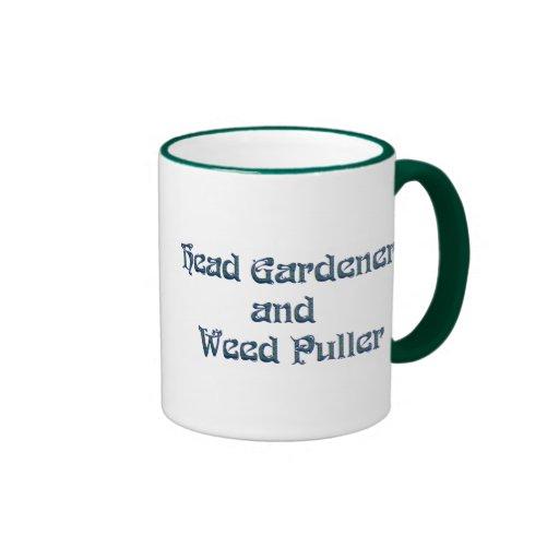 Head Gardener and Weed Puller Ringer Coffee Mug