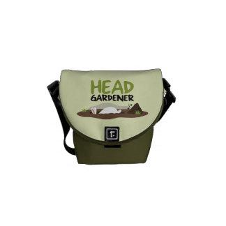 Head Gardener Illustration Messenger Bag