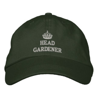 Head gardener with crown embroidered baseball cap