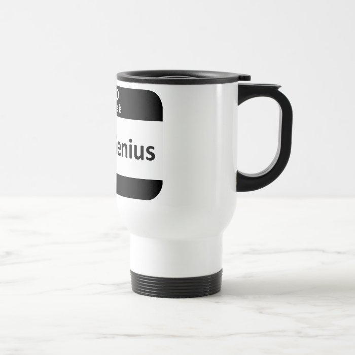 Head Genius Nametag Travel Mug