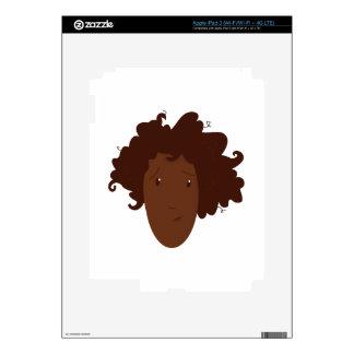 Head Hair Decal For iPad 3