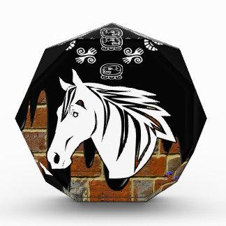 HEAD HORSE BRICK BACKGROUND PRODUCTS ACRYLIC AWARD