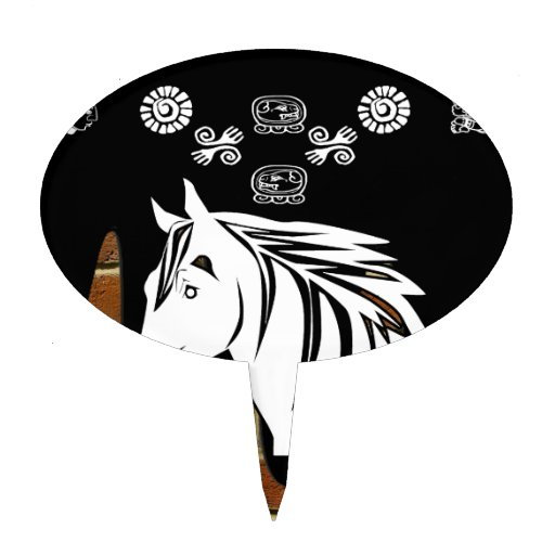 HEAD HORSE BRICK BACKGROUND PRODUCTS CAKE TOPPER