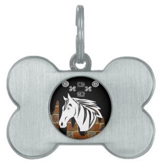 HEAD HORSE BRICK BACKGROUND PRODUCTS PET ID TAGS