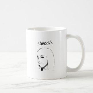 Head html code classic white coffee mug