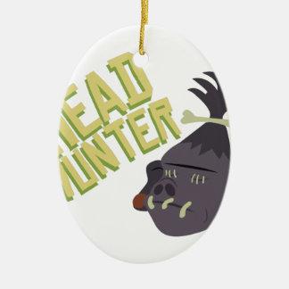 Head Hunter Ceramic Ornament