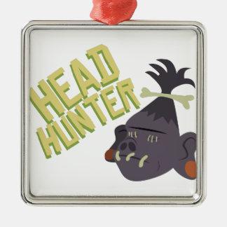 Head Hunter Metal Ornament