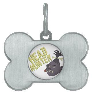 Head Hunter Pet ID Tag