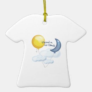 Head In Clouds Double-Sided T-Shirt Ceramic Christmas Ornament