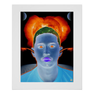 Head in Space-Print Poster